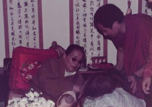 Ven. Khenpo Rinpoche with H.H. Dudjom Rinpoche