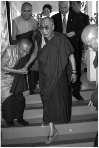 HH Dalai Lama with Khenpo Rinpoches at PBC Puerto Rico