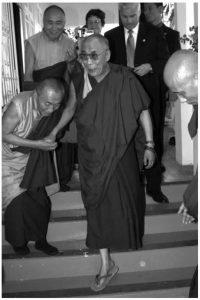 HH Dalai Lama with Khenpo Rinpoches at PBC Puerto Rico