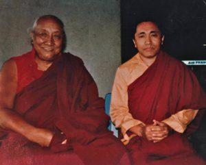 Ven. Khenchen Palden Rinpoche with H.H. Dilgo Khyentse Rinpoche