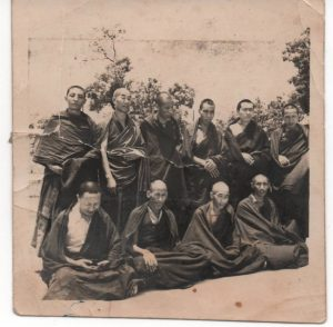 Ven. Khenchen Rinpoche together with other Khenpos and Geshes at a gathering in India in 1964.