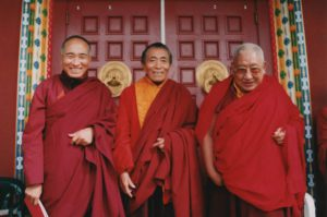The Ven. Khenpo Rinpoches with Taklung Tsetrul Khenpo Rinpoche at PSL