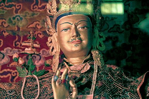 Statue of King Trisong Deutsen inside the Samye Monastery
