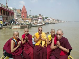 Buddhist animal release in the Ganges River
