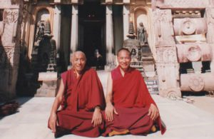 Khenpo Rinpoche in India with his brother, Khenchen Palden Sherab Rinpoche