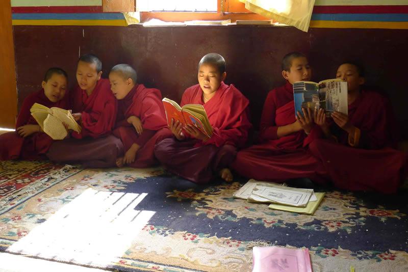 Orgyen Samye Chokhor Ling Nuns Studying